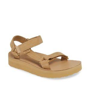 Teva Midform Universal Leather Sandal Desert Sand